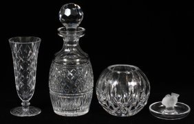 Waterford & Other Crystal Tableware, Four Pieces