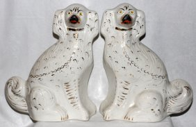 Staffordshire Dogs 19th C. Pair
