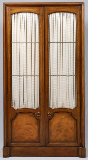Fruitwood Cabinet W/ Grille Front Doors