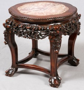 Chinese Marble Top Table 19th.c.
