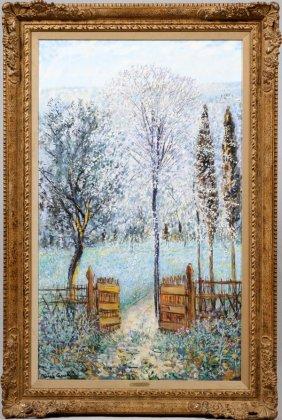 """Michele Cascella Oil On Canvas """"invitation"""""""