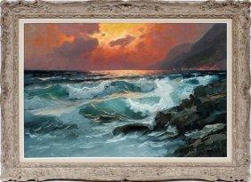Alexander Dzigurski Oil On Canvas