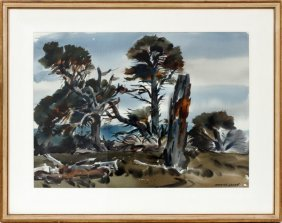 Maurice Logan Watercolor California Landscape
