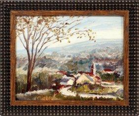 Edward Willis Redfield Oil On Artist Board