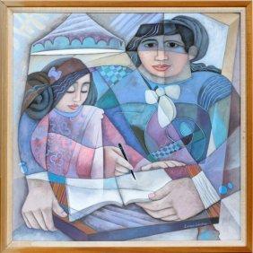Enrique Sanchez Oil On Canvas