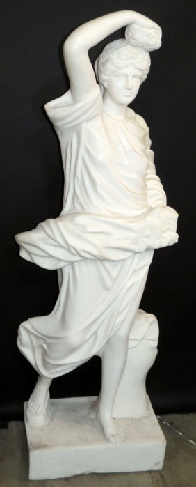 Carved Marble Standing Figure