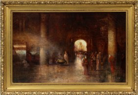 Douglas Arthur Teed Oil On Canvas