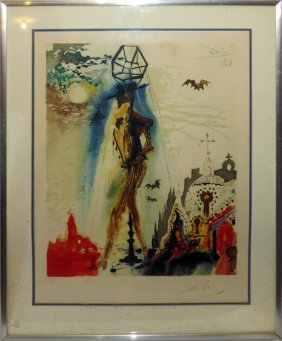 Salvador Dali Color Lithograph 1970