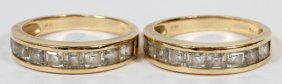 14kt Yellow Gold Lady's Wedding Bands, 2