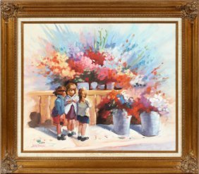 Lopez Baylon Oil On Canvas