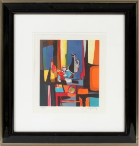 Marcel Mouly Color Lithograph