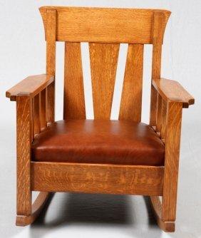 Arts And Crafts Oak Rocker