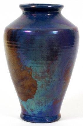 Pewabic Pottery Blue Glaze Vase
