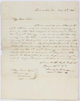 President James K. Polk Hand Written Signed Letter