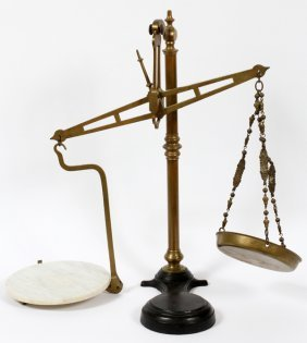 Brass & Marble Balance Scale