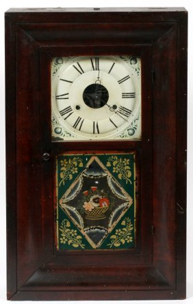Seth Thomas Mahogany Wall Clock C. 1840