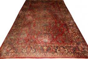 Persian Sarouk Wool Carpet C. 1940