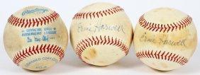 Ernie Harwell Signed Rawlings And Wilson Baseballs