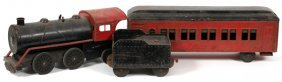 Metal Toy Train 3 Pcs. C 1930