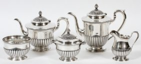 S. Kirk & Son Sterling Tea & Coffee Set Five Pieces