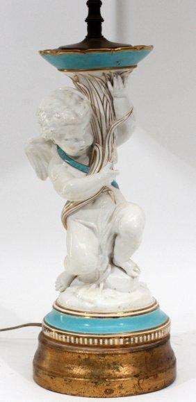 Copeland Spode Porcelain Cherub Figure Late 19th C.