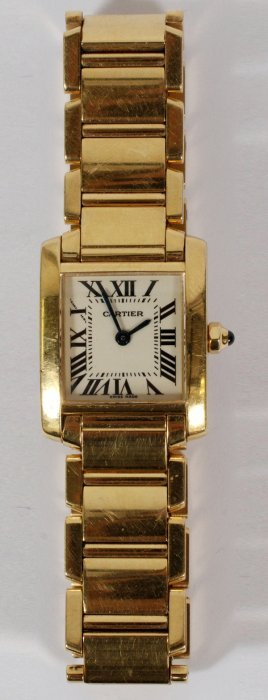 Cartier 18kt Yellow Gold Lady's Tank Watch