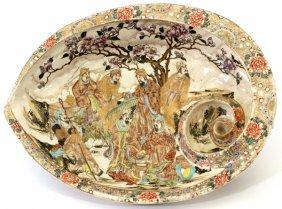 Japanese Satsuma Earthenware Bowl Meiji Period