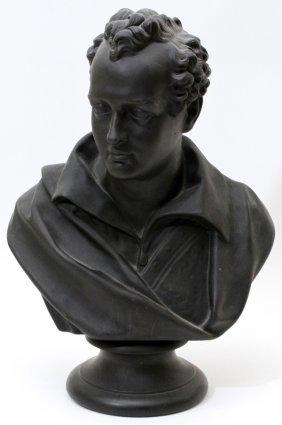 Wedgwood Basalt Bust Of Byron 19th C.