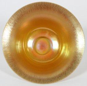Steuben Calcite & Gold Aurene Glass Centerpiece