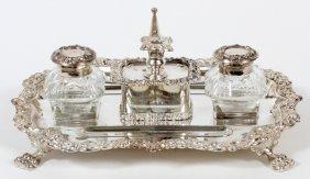 Ellis-barker Co. Silverplate Inkstand Birmingham