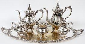 Wallace 'baroque' Silverplate Tea & Coffee Service
