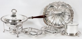 Silverplate Serving Pieces 19th-20th C. Five