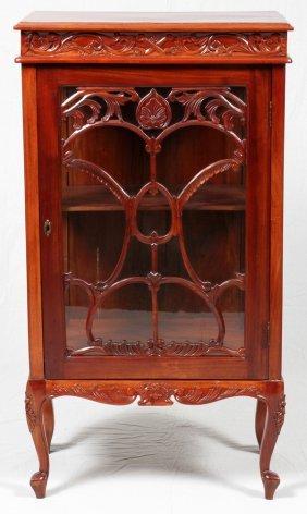 Mahogany Curio Cabinet C. 1970