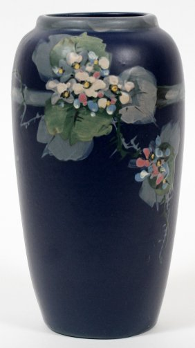 Weller Hudson Blue Pottery Vase C. 1930