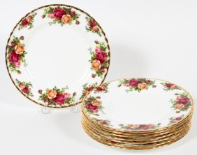 Royal Albert 'old Country Roses' Luncheon Plates
