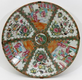 Chinese Rose Mandarin Porcelain Charger 19th C.