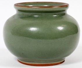 Chinese Celadon Vase 19th C.