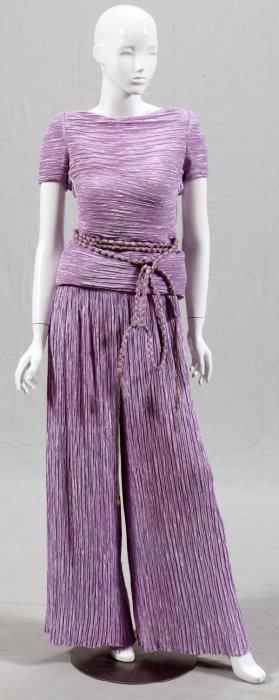 Mary Mcfadden Couture Evening Ensemble W/ Belt