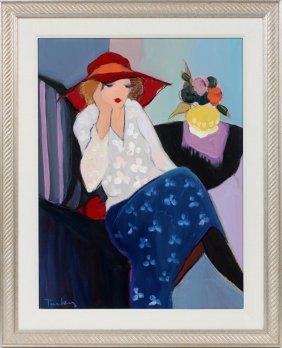 Itzchak Tarkay Oil On Canvas