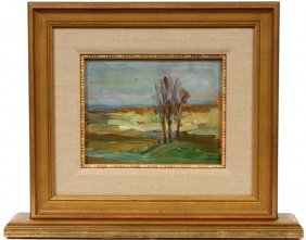 Roy Gamble Double Sided Oil On Board