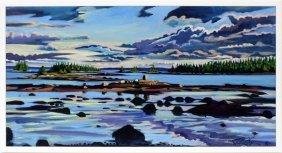 Jill Hoy Acrylic Entropic Sunset In Sunshine 1990