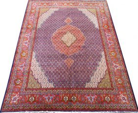 Tabriz Persian Wool Rug W/ Silk Highlights