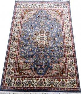Indo-persian Wool & Silk Rug