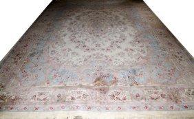 Persian Kerman Wool Carpet C. 1980's