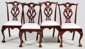 Chippendale Side Style Mahogany Dining Chairs