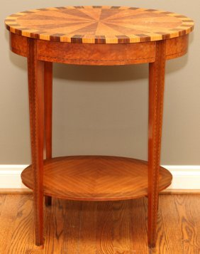 Inlaid Walnut Occasional Table