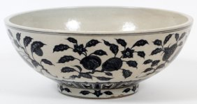 Chinese Blue And White Porcelain Fruit Bowl