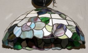 Tiffany Style Stained Glass Single-light Chandelier