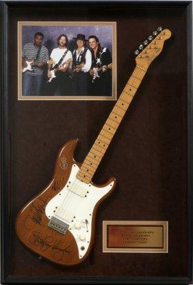 Vaughan, Clapton & Cray Autographed Fender Guitar
