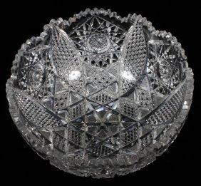 American Fine Cut Glass Open Bowl C1900